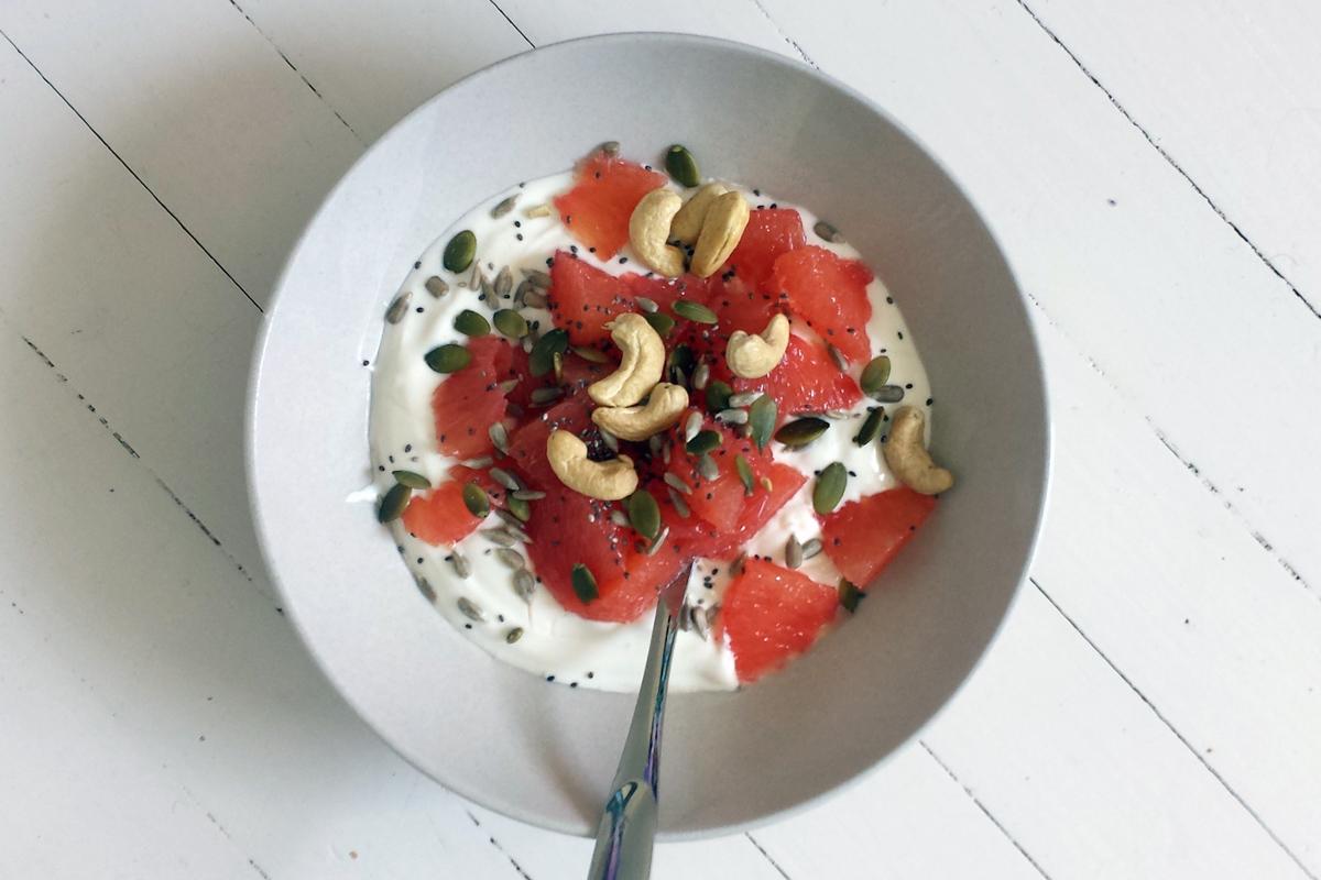 grape med yoghurt