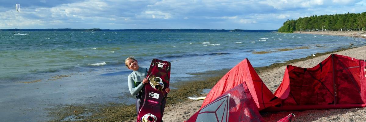 Kitesurfing i Silversand – Få motivation för det du gör genom att göra