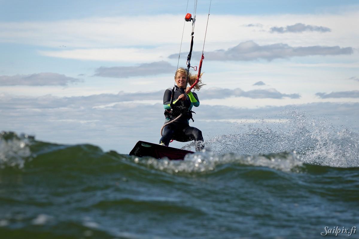 kitesurfing gravid