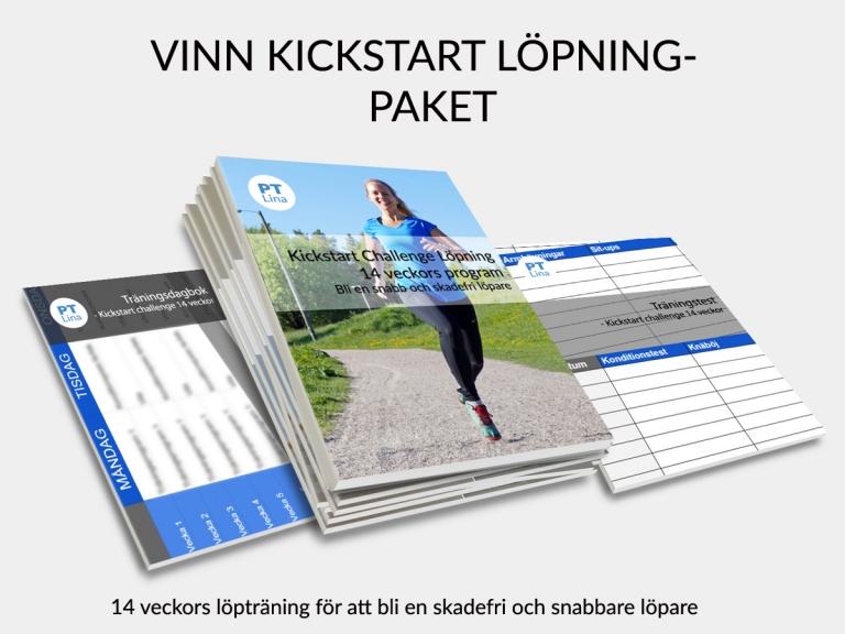 Vinn Kickstart Challenge Löpning 10-21k – Komplett träningsupplägg för löpare