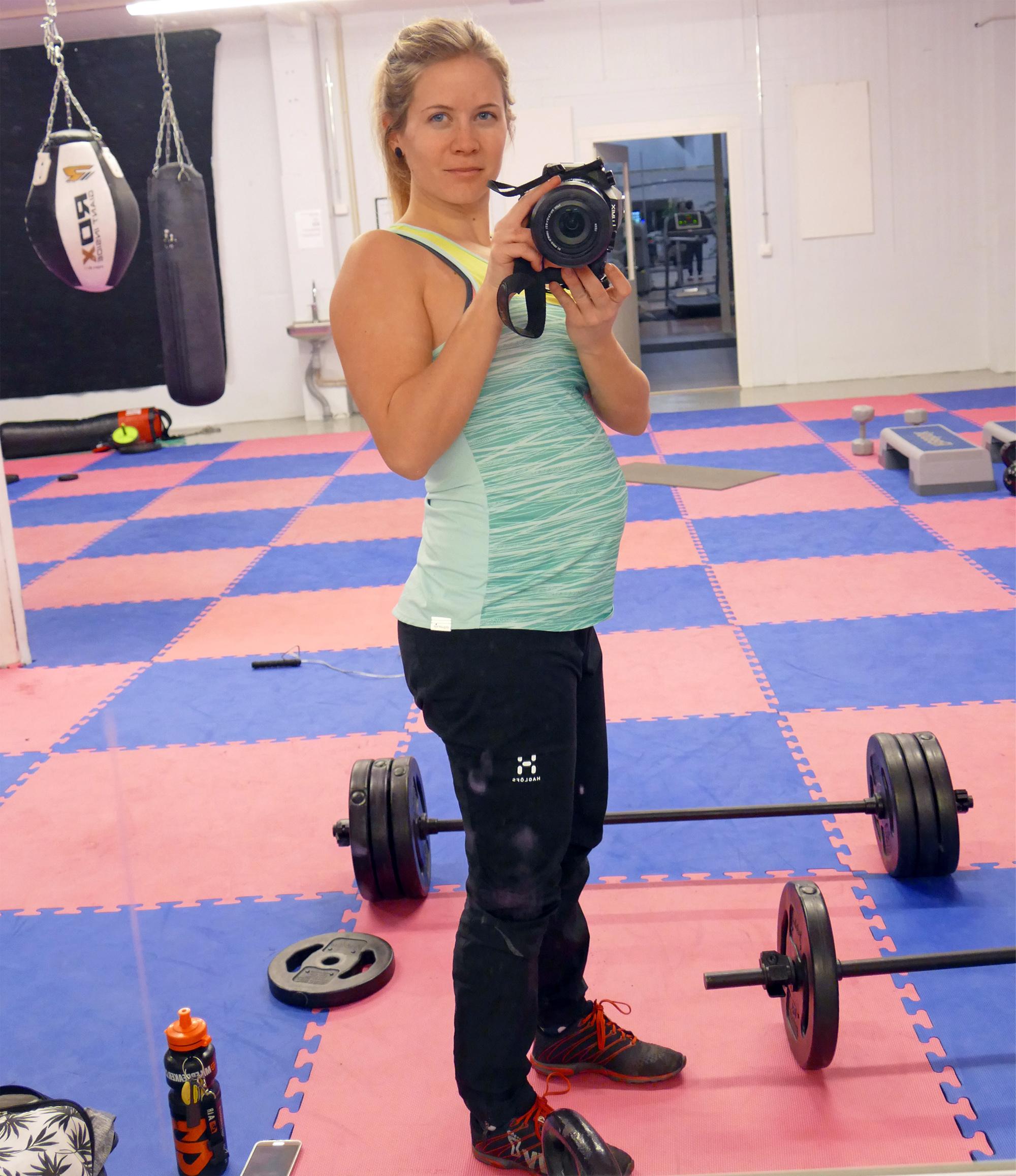 gymträning gravid