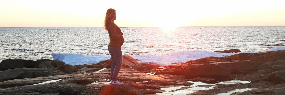 Träning i slutskedet av graviditeten