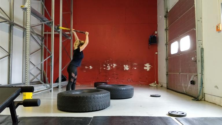 Gymträning och lördagsmys
