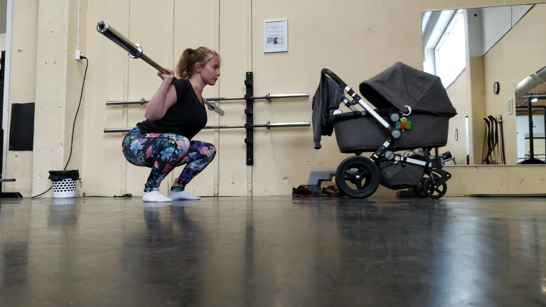Gymprogram 4 mån postpartum