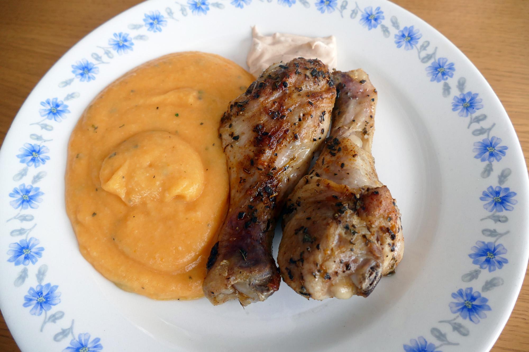 kyckling och rotsaksmos