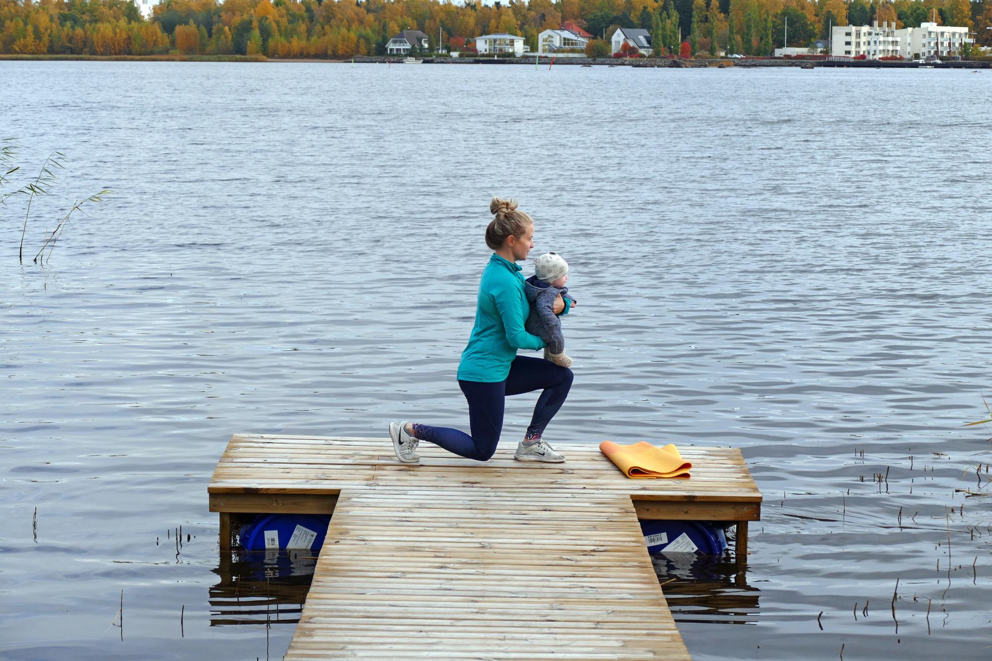 träna med bebis