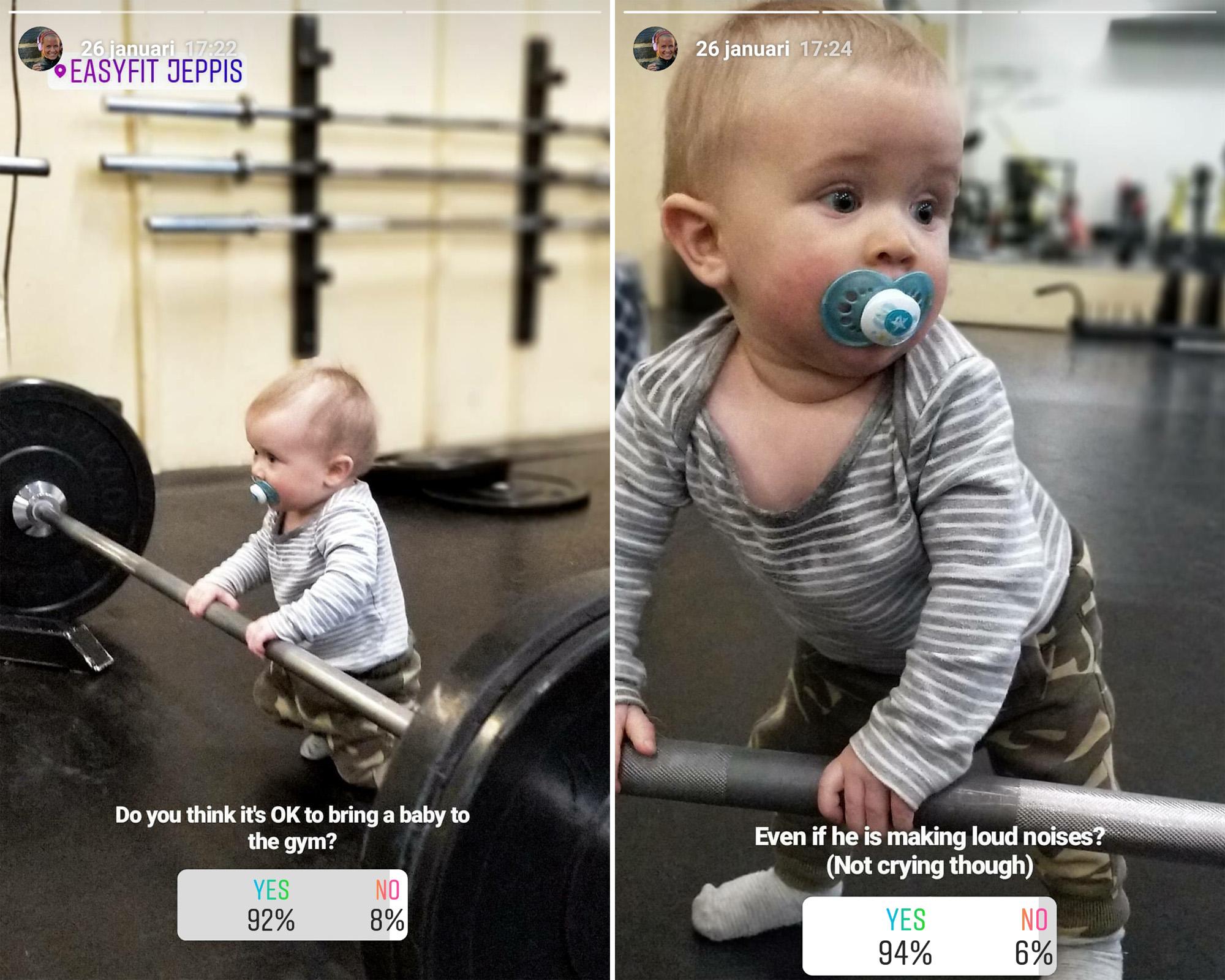 gymtraning med bebis