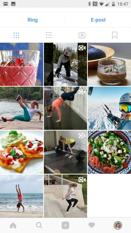 Ny instagram för träning och hälsa