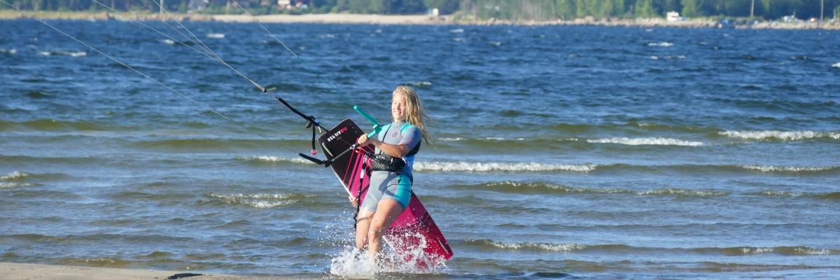 Kitesurfing efter graviditet (och under graviditet)