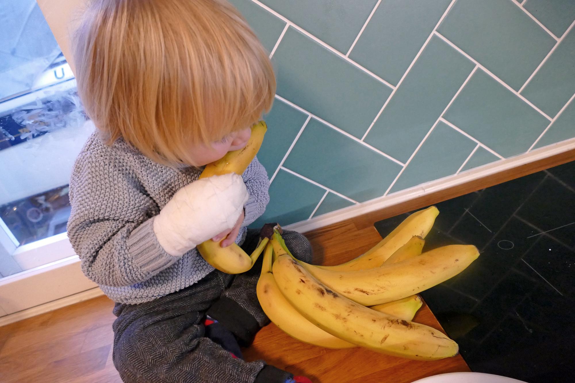 bananplättar hålla ihop
