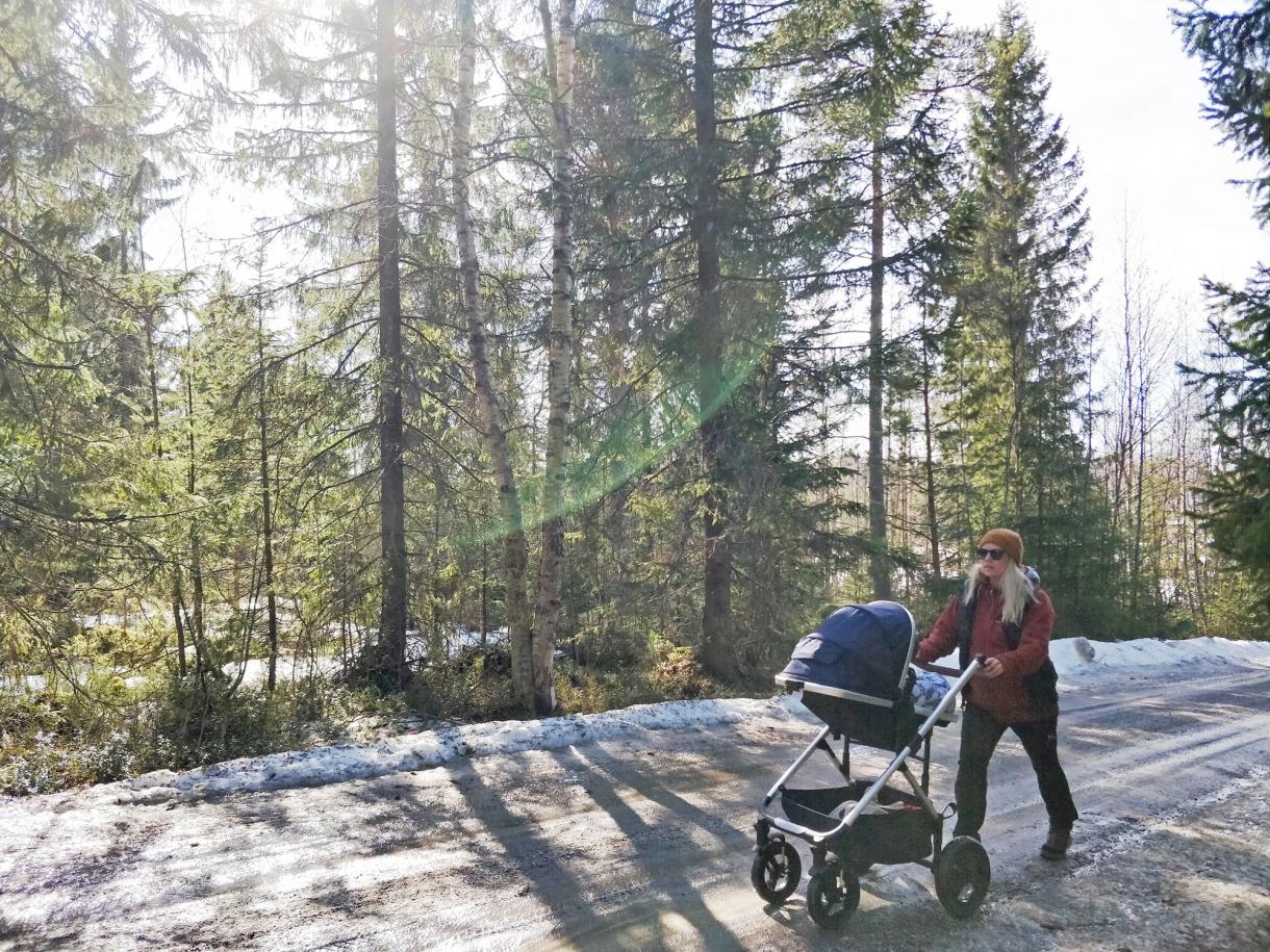 backträning promenad vagnen