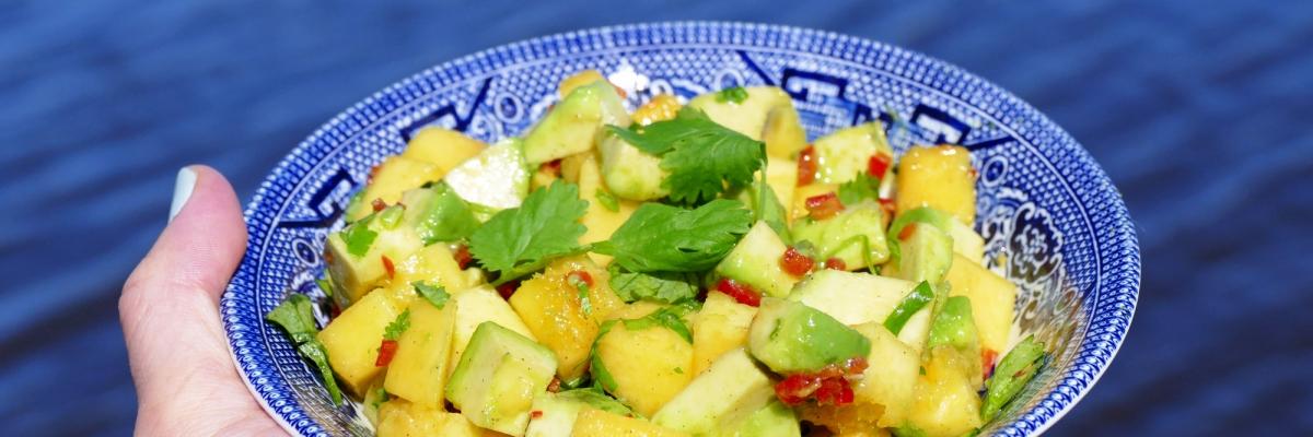 Recept: avokado- och mangosalsa som tillbehör till grillat