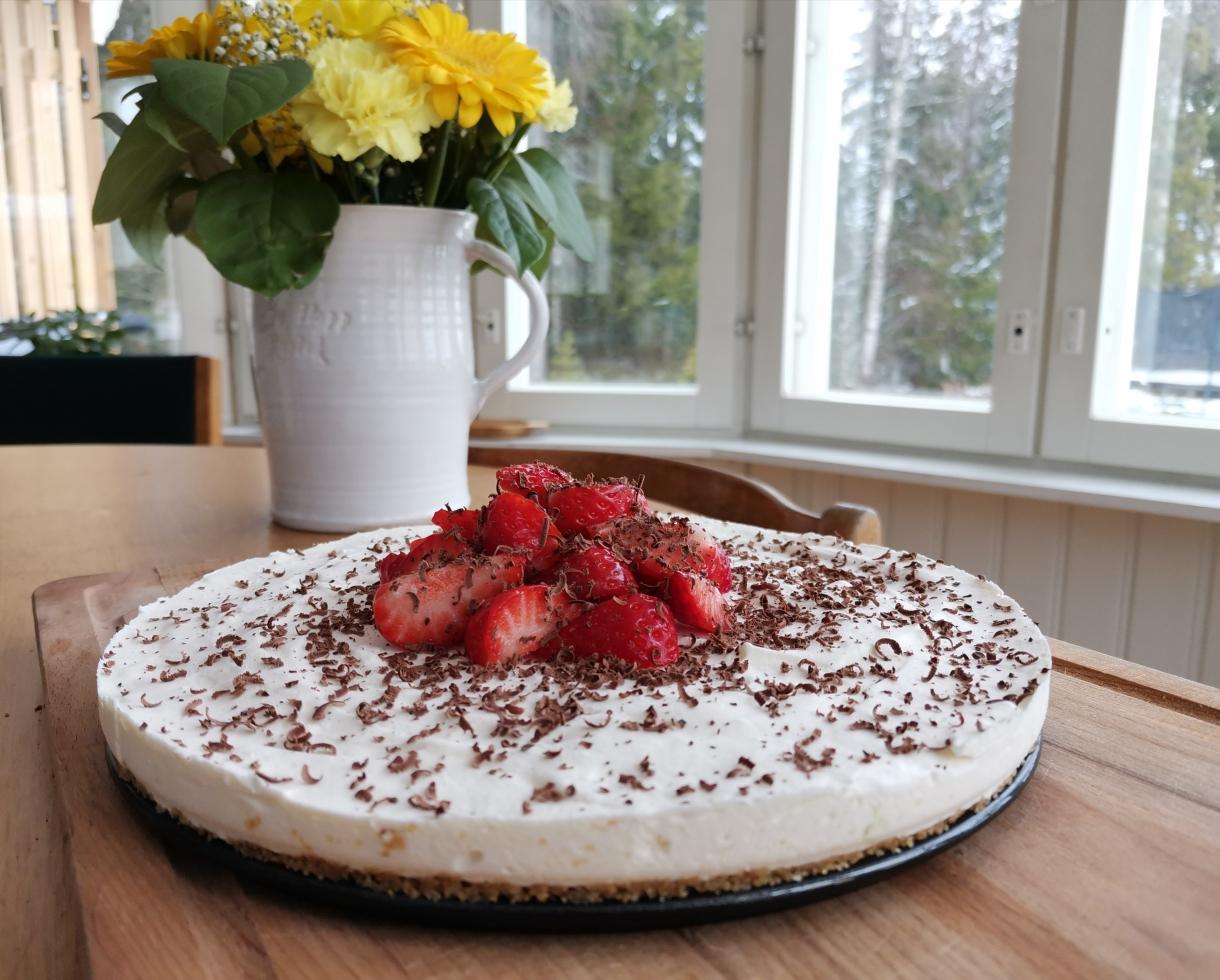 enkel cheesecake för nybörjare
