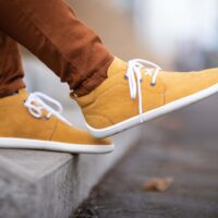 Barefoot Shoes - Be Lenka All-year - Icon - Mustard & White - 2
