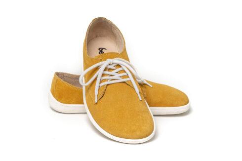 Barefoot Shoes - Be Lenka City - Mustard & White - 2