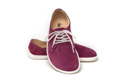 Barefoot Shoes - Be Lenka City - Plum & White - 2