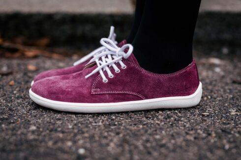 Barefoot Shoes - Be Lenka City - Plum & White - 3