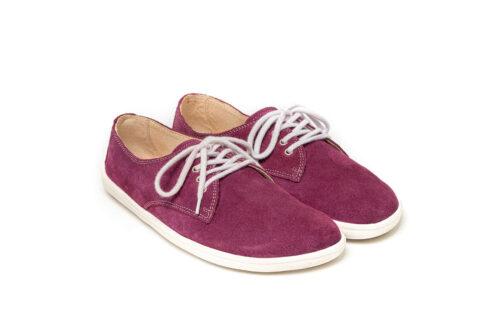 Barefoot Shoes - Be Lenka City - Plum & White - 4