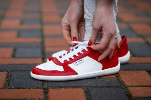 Barefoot Sneakers - Be Lenka Champ - Patriot - Red & White - 4