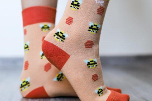 Barefoot Socks - Crew - Bees - 3