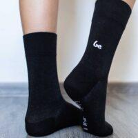 Barefoot Socks - Crew - Black - 2