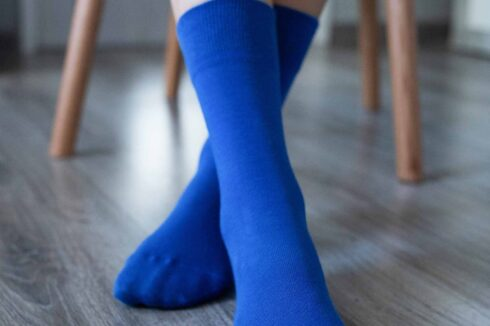 Barefoot Socks - Crew - Blue - 1