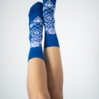 Barefoot Socks - Crew - Folk - Blue - 2
