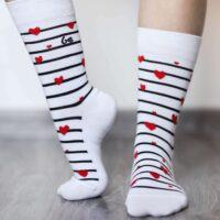 Barefoot Socks - Crew - Hearts - 2