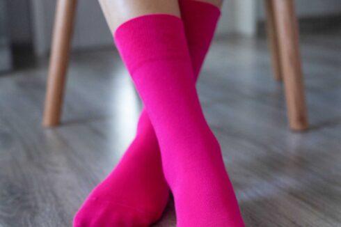 Barefoot Socks - Crew - Pink - 1