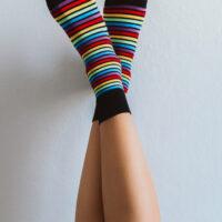 Barefoot Socks - Crew - Rainbow - 2