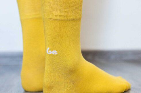 Barefoot Socks - Crew - Yellow - 3
