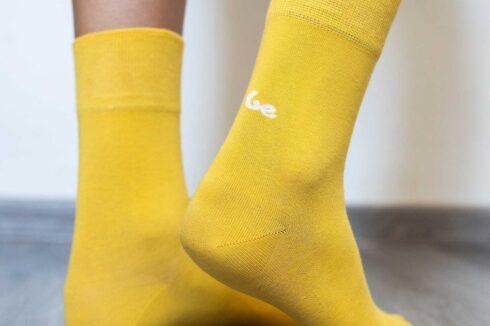 Barefoot Socks - Crew - Yellow - 4