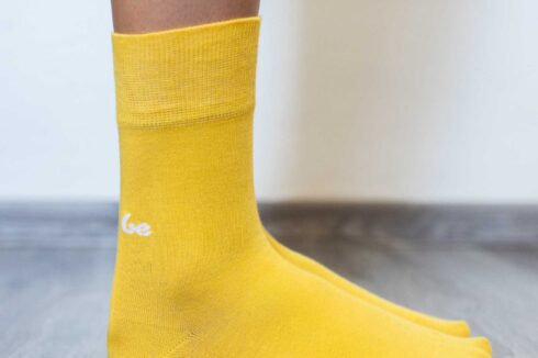 Barefoot Socks - Crew - Yellow - 5
