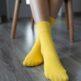 Barefoot Socks - Crew - Yellow - 1