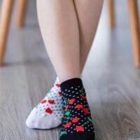 Barefoot Socks - Low-Cut - Cherries - 1