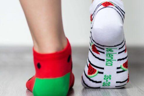 Barefoot Socks - Low-Cut - Watermelon - 5