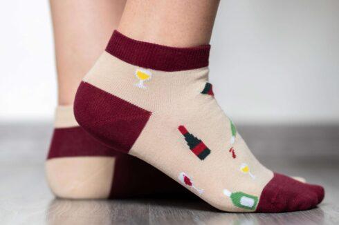Barefoot Socks - Low-Cut - Wine - 2