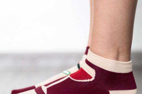 Barefoot Socks - Low-Cut - Wine - 3