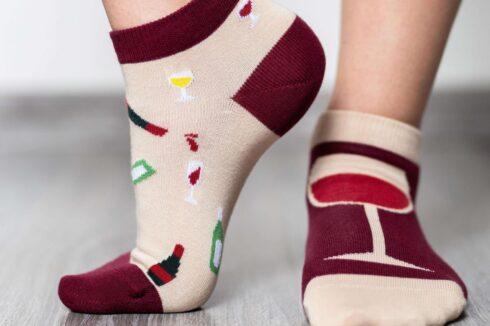 Barefoot Socks - Low-Cut - Wine - 4