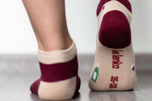 Barefoot Socks - Low-Cut - Wine - 5