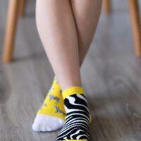 Barefoot Socks - Low-Cut - Zebra - 1