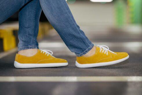 Barefoot Shoes - Be Lenka City - Mustard & White - 5