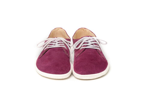 Barefoot Shoes - Be Lenka City - Plum & White - 6