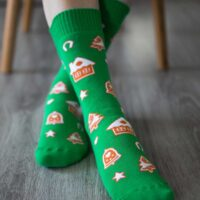 Be Lenka Winter barefoot socks - Crew - Gingerbread - 1