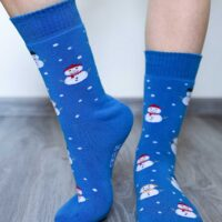 Be Lenka Winter barefoot socks - Crew - Snowmen - 2
