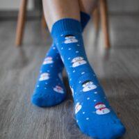 Be Lenka Winter barefoot socks - Crew - Snowmen - 1
