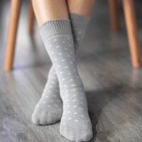 Be Lenka Winter barefoot socks - Crew - Stars - Grey - 1