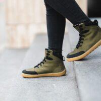 Winter Barefoot Boots Be Lenka Ranger - Army Green - 2