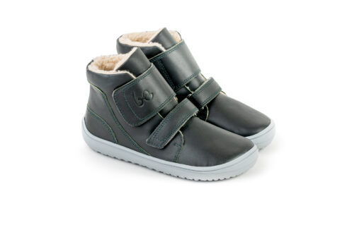 Be Lenka Kids Winter barefoot Be Lenka Panda - Charcoal Black - 5